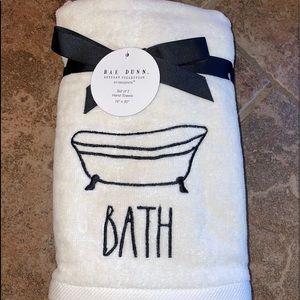 """Rae Dunn """"Bath"""" 2 Hand Towels"""